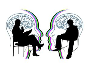 Psychologist talking to Client